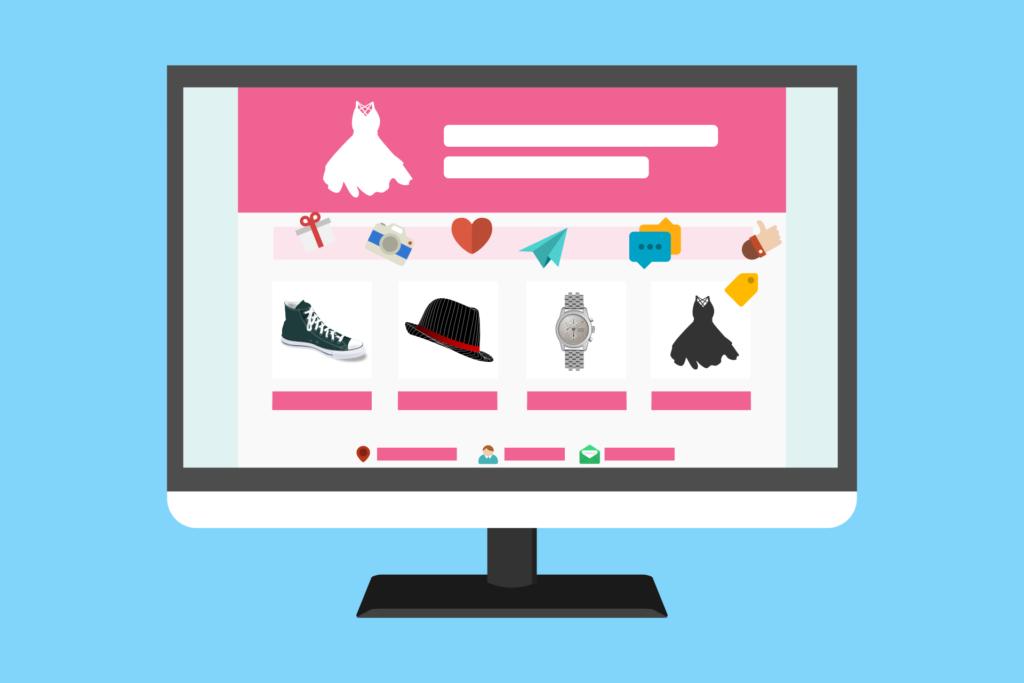 Tienda en linea, venta de zapatos, venta, computadora